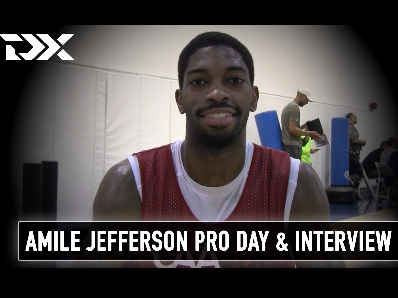 Amile Jefferson CAA Sports Pro Day Workout