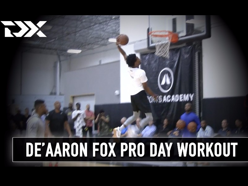 De'Aaron Fox Catalyst Sports Pro Day Workout