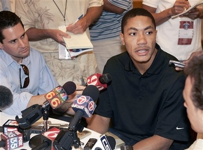 Interviews with Derrick Rose and Michael Beasley