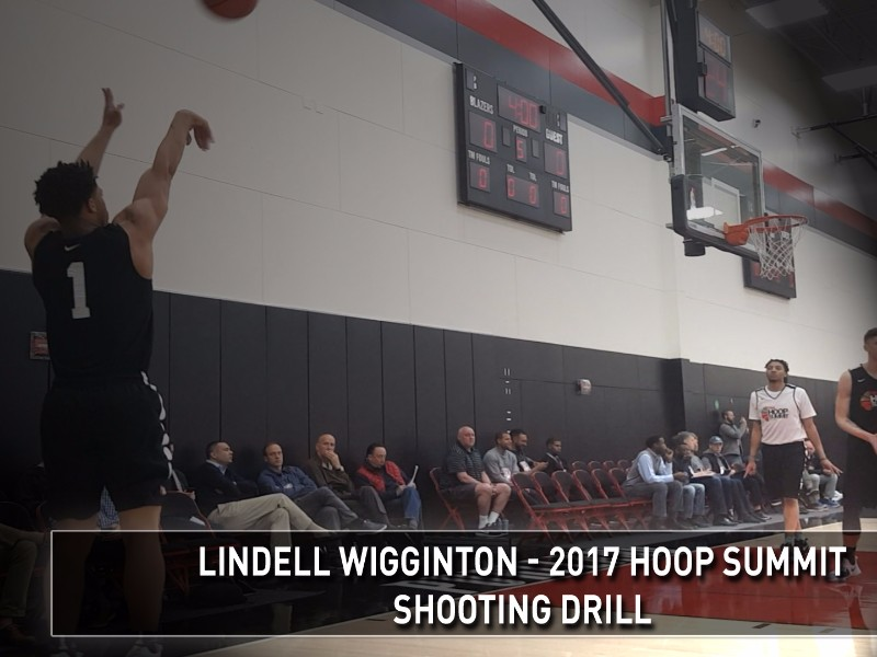 2017 Nike Hoop Summit Shooting Drills: Lindell Wigginton
