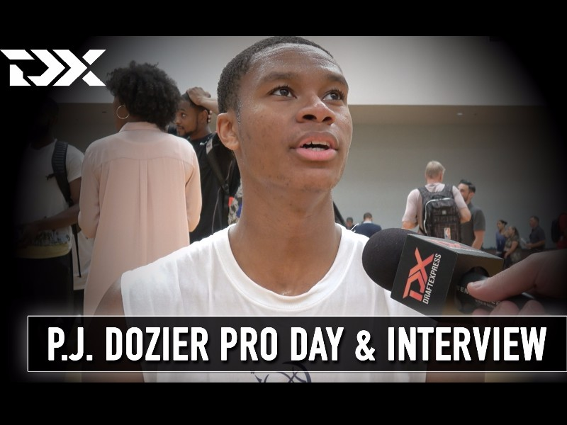 P.J. Dozier BDA Sports Pro Day Workout and Interview